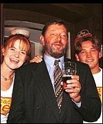 [ image: David Blunkett launched the National Year of Reading on the set of EastEnders]