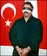 Ocalan blindfolded