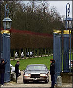 [ image: Mrs Albright arrived at Rambouillet to get both sides to move]