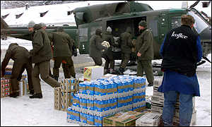 [ image: Supplies being sent to Galtuer before snow closes in again]