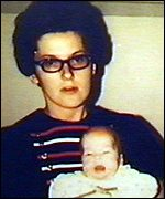 [ image: Juanita Hoyt with one of her five children]