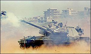 Israel in action in south Lebanon, June 1993