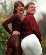 Carol Smillie and Frank Skinner