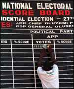 [ image: Keeping tally as the results came in]