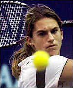[ image: French tennis star Amelie Mauresmo is openly lesbian]