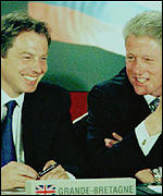 [ image: Blair and Clinton: Valued relationship]