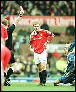 [ image: Paul Scholes gets his marching orders]