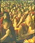 [ image: Thousands of Buddhists have fled Tibet into exile]