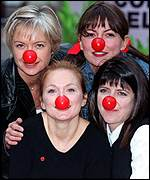 [ image: Mariella Frostrup, Davina McCall, Emma Freud and Geri Halliwell (clockwise) launch the appeal]