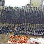 [ image: Most of the arms sent are seized by the Serbs]