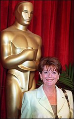 [ image: Brenda Blethyn wonders whether she can fit the Oscar in her handbag...]