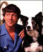 [ image: One man and his dog: John Noakes and Shep]