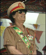 [ image: First man to the Third Way: Colonel Gaddafi says Tony Blair got his inspiration from the Libyan leader]