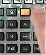 [ image: Calculators are out, mental arithmetic in, says David Blunkett]