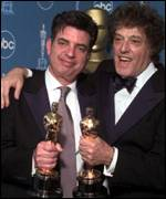 [ image: Marc Norman and SirTom Stoppard celebrate their Oscars for writing Shakespeare in Love]