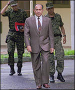 [ image: Former General Lino Oviedo: Closely linked to the president]