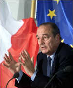 [ image: Jacques Chirac fended off the deep cuts in farm spending that other EU countries had argued for]