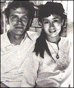 [ image: Ms Suu Kyi, with husband Michael Aris]