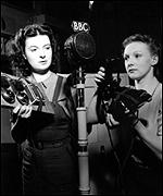 [ image: Sound effects creators for BBC radio  in 1942]
