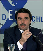 [ image: Spanish Prime Minister Jose Maria Aznar avoided cuts in regional aid]