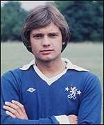 [ image: Wilkins burst into top-flight football with Chelsea in the 1970s]
