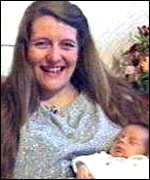 [ image: Diane Blood with baby son Liam]