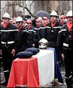 [ image: The firefighters buried their colleague]