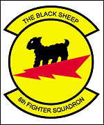 [ image: Holloman's 8th Fighter Squadron is better known as the Black Sheep]