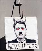 [ image: Clinton as seen by anti-Nato protesters in Sydney]