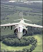 [ image: Harriers are well suited for low level missions]