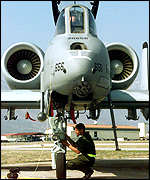 [ image: A-10 Thunderbolt ready for action at Aviano air base in Italy]
