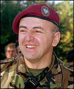 [ image: Serb military leader Arkan: Will not give in to Nato]