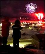 [ image: Fireworks heralded the birth of Nunavut]