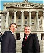 [ image: Blair and Ahern: New joint declaration]