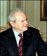 [ image: TV pictures of a meeting with Mr Milosevic were faked, says Nato]
