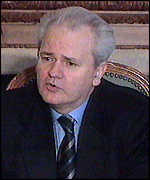 [ image: President Milosevic: Vowed to rebuild targets of Nato strikes]