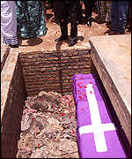 [ image: Some 20,000 victims were exhumed and reburied]