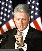 [ image: Bill Clinton defended his China policy from Congressional attack on Wednesday]
