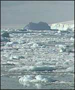 [ image: Ice shelves help to protect glaciers from melting]