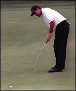 [ image: This putt on the 13th was crucial]