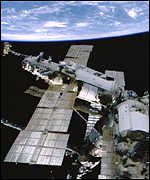 [ image: The Mir space station has seven modules]