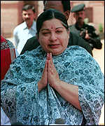 [ image: Jayalalitha: Made repeated demands of BJP]