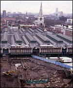 [ image: The former site of London's Spitalfields Market is being redeveloped]