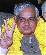 [ image: Vajpayee: He is no longer the victor]