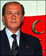 [ image: Devlet Bahceli: His party doubled its share of the vote]