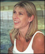 [ image: Swimmer Sharron Davies was targeted. Her husband is black]