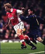 [ image: Ray Parlour: Opened the goalfest for the Gunners]