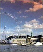 [ image: The wheel's 32 capsules will offer 25-mile views]