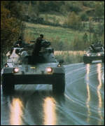 [ image: Nato tanks are used to bolster the defence of Western Europe]