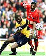 [ image: Ricard finds no way past Vieira on a frustrating day for Boro]